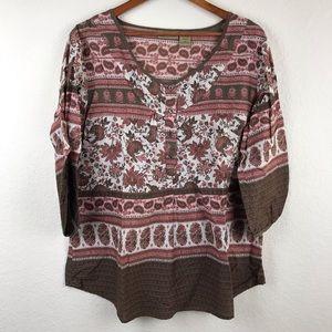 Art and Soul 100% cotton blouse size XL